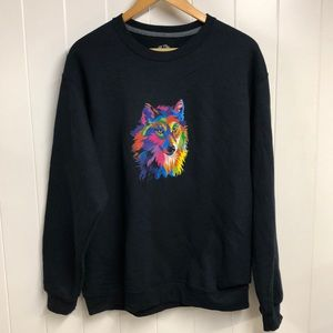 Fruit of the Loom Colorful Wolf Sweatshirt